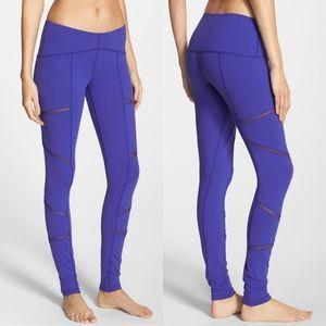 Karma Mesh Leggings Royal Blue Size Medium Yoga